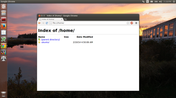 Chrome running in LXC